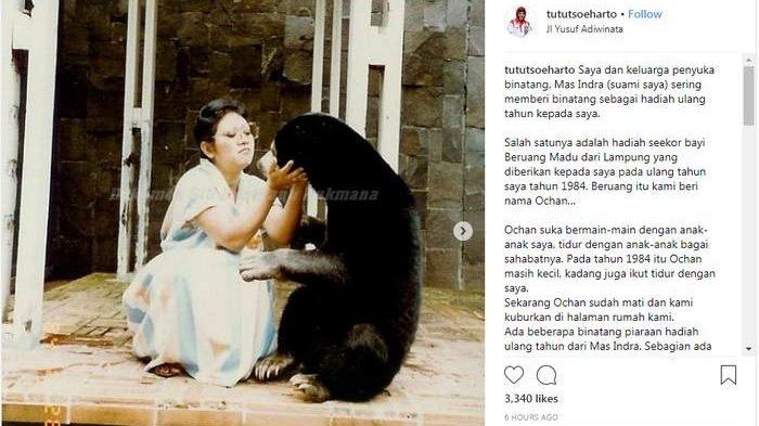 Tutut Soeharto Anggap Ochan Seperti Anak Sendiri