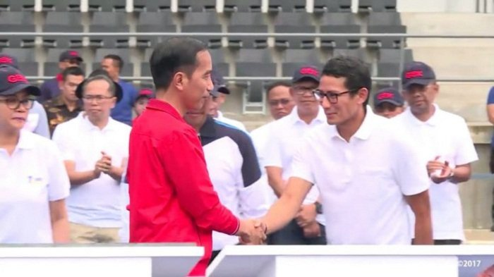 Debat Capres Pamungkas Pilpres 2019, Jokowi Tegur Sandiaga Uno Soal Ibu Mia