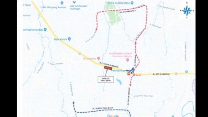 Awas, Simpang Pancoran Sisi Selatan Ditutup hingga 13 Oktober, Ini Alternatifnya
