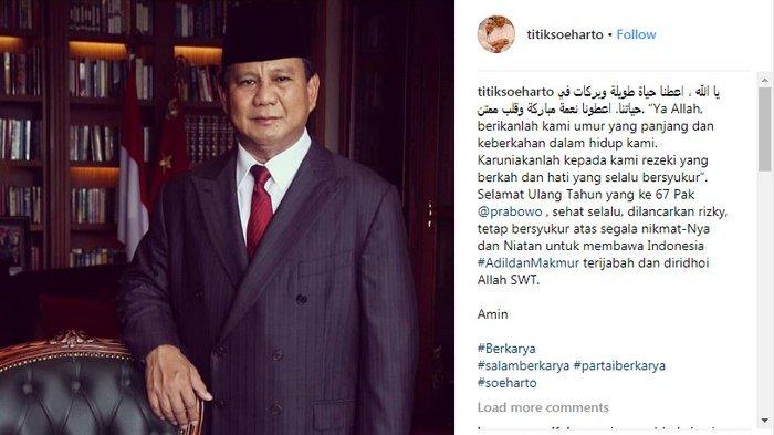 Prabowo Balas Pesan Netizen, Tidak Balas Mention Titiek Soeharto