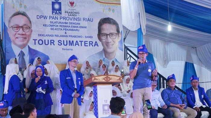 Ini Kata Sandiaga Uno di Hadapan Emak-emak Rebana se-Provinsi Riau