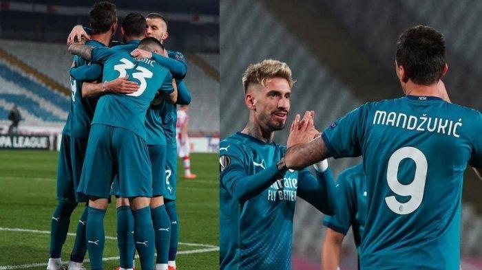 Sedang Berlangsung Crvena Zvezda vs AC Milan 1-2, Theo Hernandez Bikin AC Milan Kembali Unggul