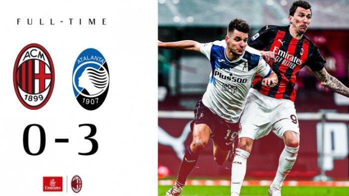 Hasil dan Klasemen Liga Italia, Dibantai Atalanta, Posisi AC Milan Sebagai Pimpinan Kini Jadi Rawan
