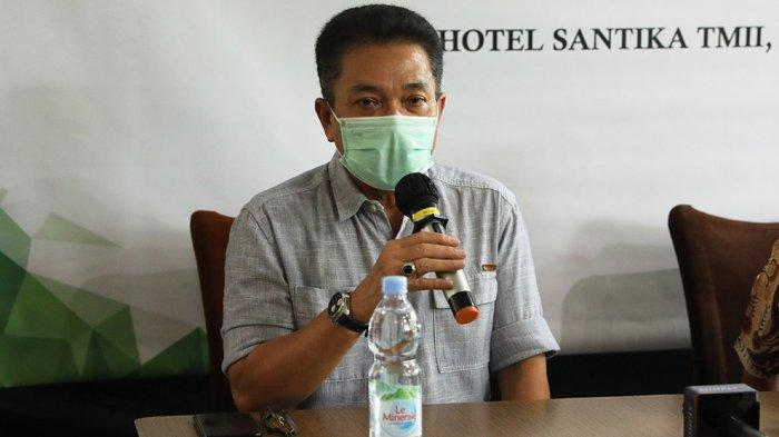 Sekjen PP PBSI Achmad Budiharto hadir di acara preskon jelang Munas yang akan berlangsung pada bulan November ini