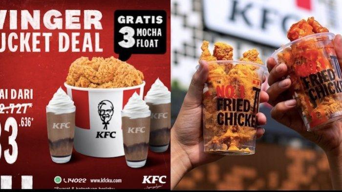 Promo Ayam KFC Hari Senin 31 Mei Winger Bucket Gratis Minuman Cuma Rp 83 ribuan