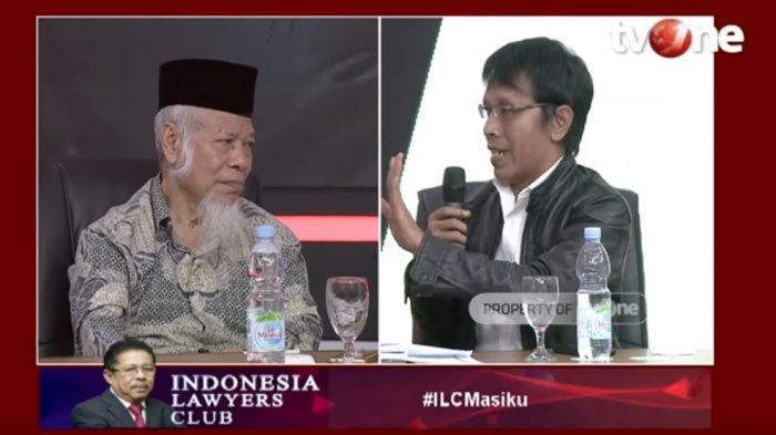 Debat Adian Napitupulu vs Abdullah Hehamahua di ILC, Jangan Geser Seolah PDIP Tolak Penyelidikan