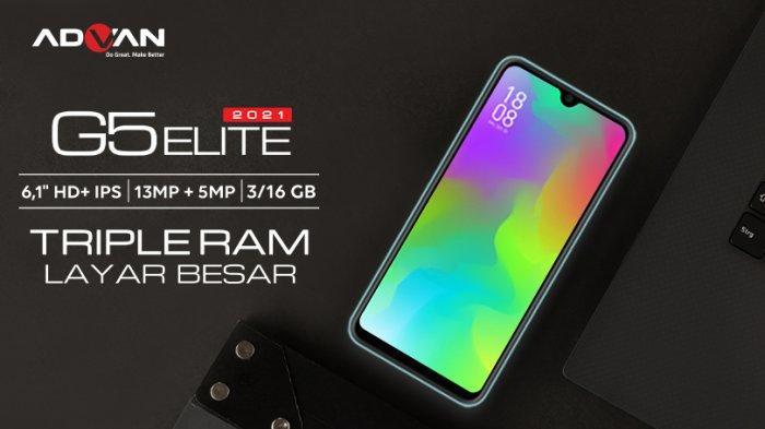 Advan G5 Elite 2021, Smartphone Rp 1 Jutaan dengan Layar 6,1 Inci HD Plus dan RAM 3GB
