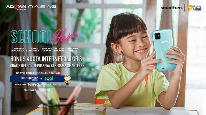 Harga Rp 899 Ribu, Advan Nasa Plus buat Siswa Belajar Online, Gratis Internet 360GB dan Kelas Pintar
