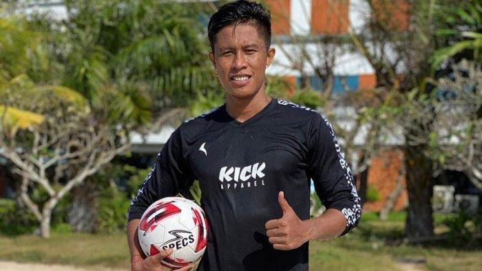 Agus Nova Wiantara, pemain belakang Bali United sempat dipinjamkan ke Sulut United