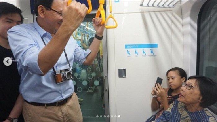 Pertama Kalinya Ahok Jajal MRT Jakarta Bersama Putra Sulungnya, Begini Kehebohannya