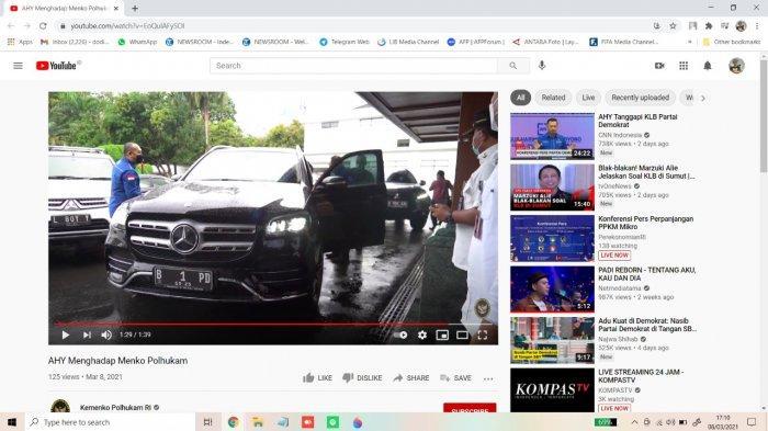 Temui Menko Polhukam, AHY Tunggangi Mobil Mewah Mercedes-Benz Seri Ini