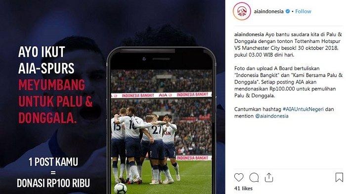 Asuransi AIA dan Tottenham Hotspur Gelar Kontes 'Begadang Buat Nyumbang'
