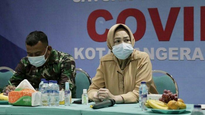 Kota Tangsel perpanjang masa PSBB, Airin Rachmi Diany minta masyarakat genjot penerapan protokol kesehatan Covid-19, Kamis (19/11/2020). Foto: Wali Kota Tangsel, Airin Rachmi Diany.