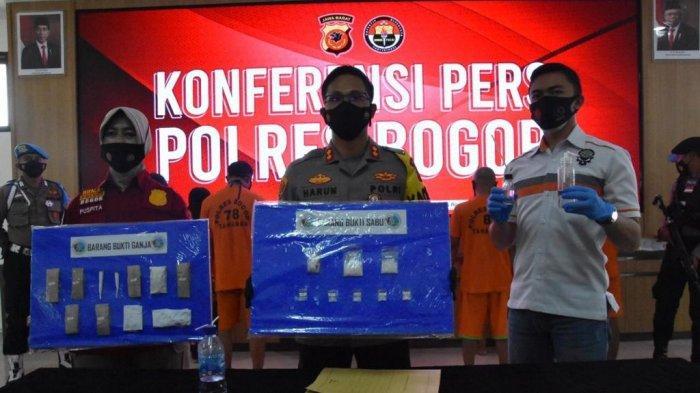 Polres Bogor Ciduk Suami-Istri di Cisarua karena Menjual Narkoba