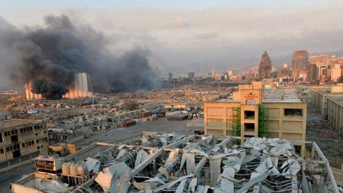 Beirut Bergolak Akibat Ledakan Dahsyat, Jumlah Korban Tewas Capai 100 Jiwa, 4.000 Luka