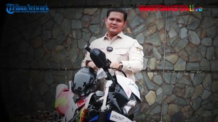 Aksi Motor Trail Ganjar Ramadhan Pantau Proyek Pembangunan Tembok Penahan Tanah di Cieundeur Cianjur