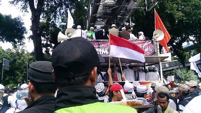 Hanya Boleh Gelar Demo Depan Kementerian Pariwisata, Perserta Aksi 212 Tuntut Masuk Istana Negara
