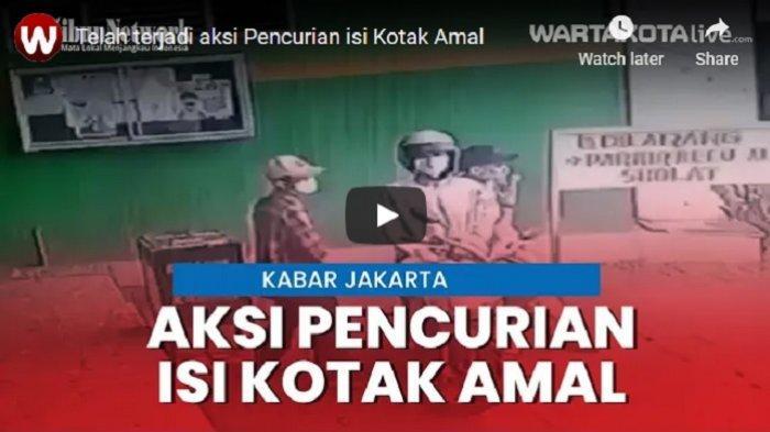 VIDEO Tiga Pria Beraksi Mencuri Kotak Amal di Halaman Masjid di Jakarta Utara