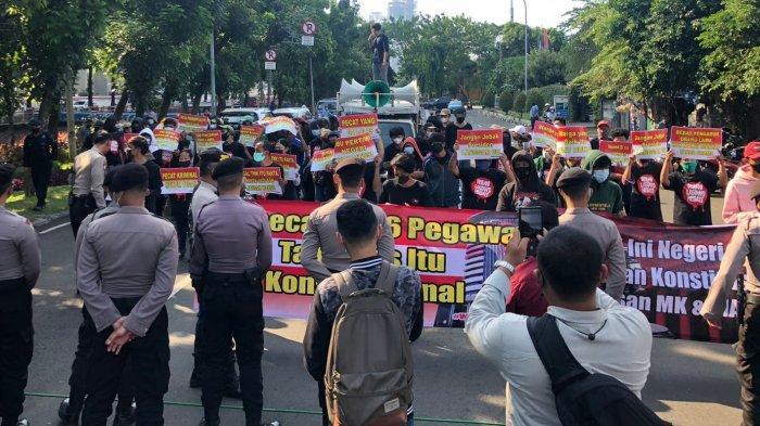Dukung KPK Soal Pemberhentian 56 Pegawai, Koalisi Rakyat Cinta Konstitusi Gelar Aksi Unjuk Rasa
