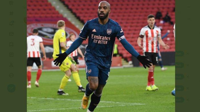 Arsenal Hajar Sheffield 3-0, Alexandre Lacazette 2 Gol, Gunners Naik Dua Tingkat di Papan Klasemen