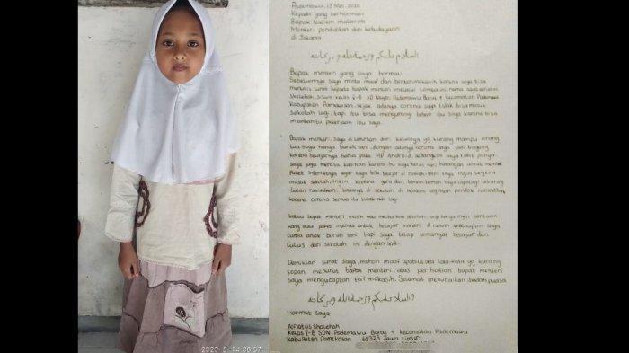 Surat Alfiah Sholehah untuk Nadiem Makarim: Ibu Harus Cari Utangan Buat Beli Paket Internet