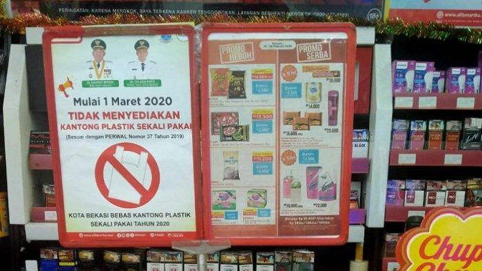 Awas, Sanksi Tegas bagi Retail Modern di Kota Bekasi yang Masih Sediakan Kantong Plastik