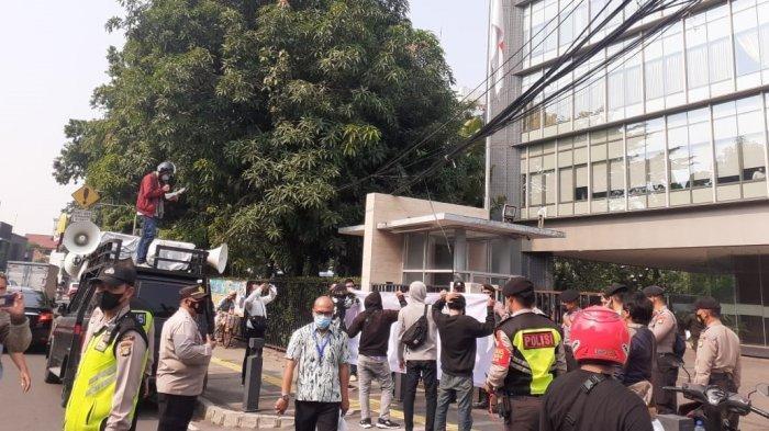 Nyatakan Sikap Soal TWK, Aliansi Pemuda dan Mahasiswa Kristen Indonesia Demo KPK dan PGI