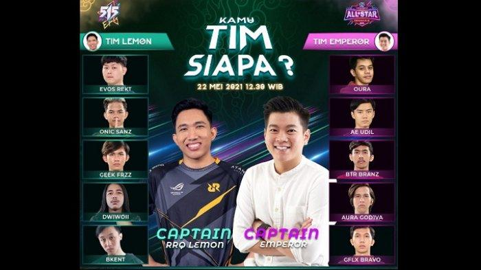 Rangkaian Mobile Legends Bang Bang,Kapten Tim All Star Match Diumumkan Berdasarkan Hasil Voting