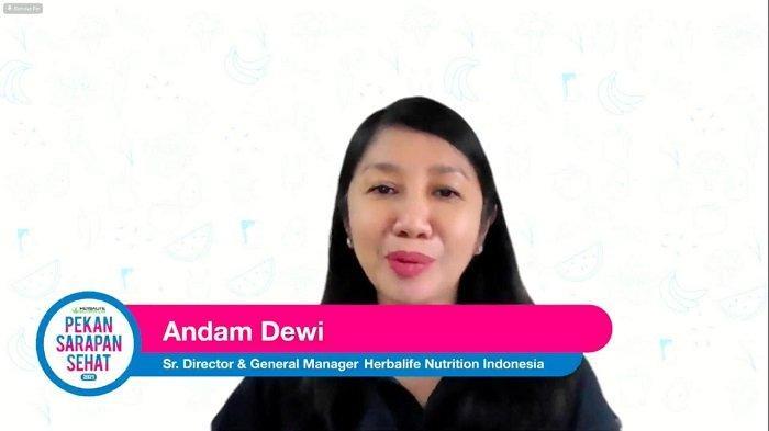 Senior Director and Country General Manager Herbalife Nutrition Indonesia, Andam Dewi, mengatakan, sarapan bernutrisi dapat menyuplai energi bagi tubuh dan otak.