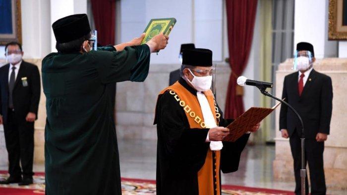 H. Andi Samsan Nganro Ucapkan Sumpah Menjadi Wakil Ketua Mahkamah Agung