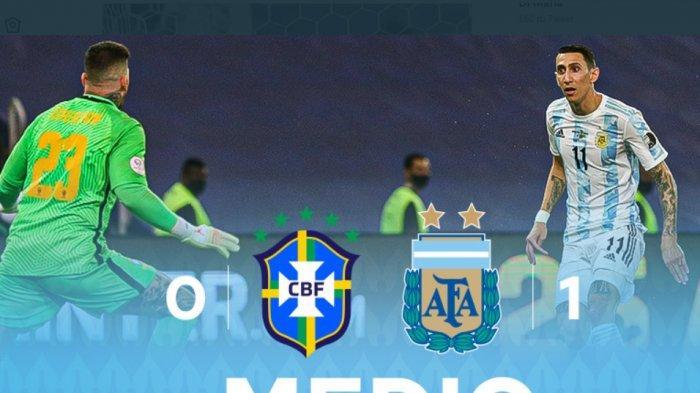 Kalahkan Brasil 1-0. Argentina Juara Copa America 2021, Koleksi Gelar Terbanyak Samai Uruguay
