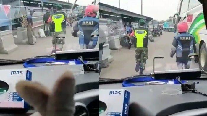Momen Anggota TNI dan Relawan Ojol Buka Jalan Ambulans Bikin Haru, Tenaga Kesehatan: Hatur Nuhun Pak