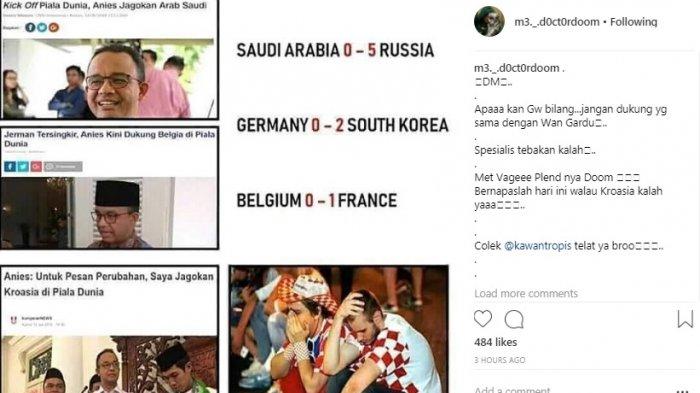 Bikin Ngakak! Jagoan Anies Baswedan di Piala Dunia 2018 Ternyata Tumbang Semua