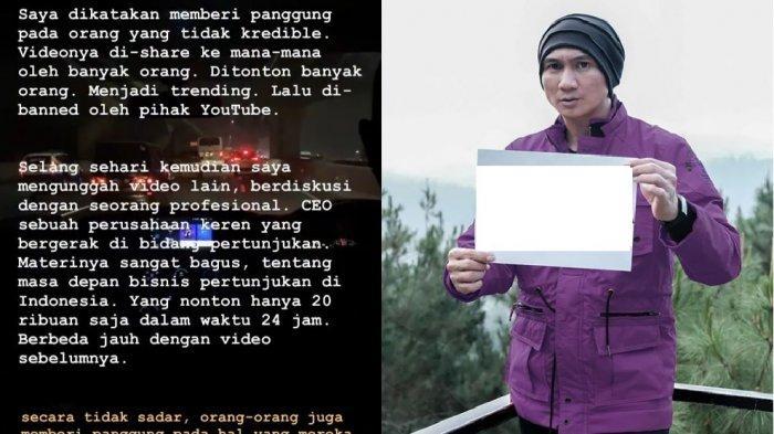 Anji Kecewa Videonya Dihapus Youtube, Joko Anwar Heran Sekelas Anji Lebih Mementingkan View Video?