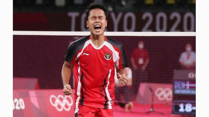 Anthony Sinisuka Ginting Jaga Peluang Medali Untuk Tim Indonesia Setelah Lolos ke Semifinal