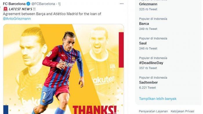 Antoine Griezmann Dikembalikan ke Atletico dengan Status Pinjaman, Barca Datangkan Luuk de Jong?