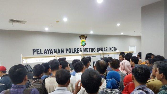 Pelayanan SIM Polrestro Bekasi Kota Mulai Dibuka Kembali saat Pandemi Virus Corona