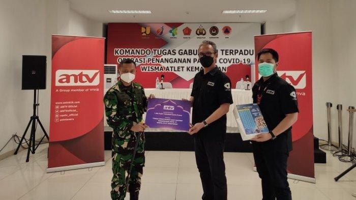 ANTV Serahkan 1.000 Paket Makanan Buka Puasa Untuk Tenaga Kesehatan di RSDC Wisma Atlet Kemayoran