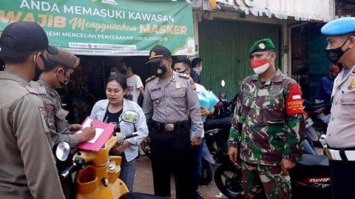 Polsek Gunung Sindur Gelar Operasi Yustisi di Pasar Tohaga Prumpung