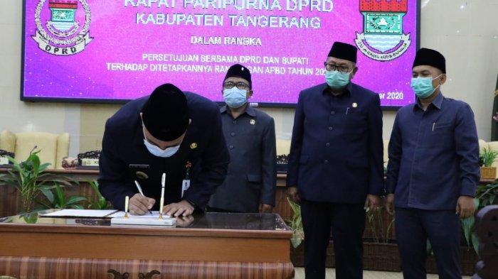 DPRD Kabupaten Tangerang Mengesahkan APBD Tahun 2021 Sebesar Rp 5,276 Triliun