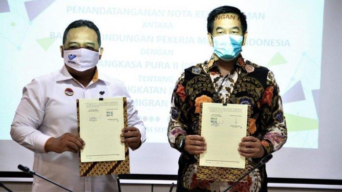 PT Angkasa Pura II dan BP2MI Teken MoU Siapkan Layanan VIP di Bandara bagi Pekerja Migran Indonesia