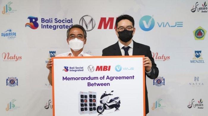 Aplikasi Travel Viaje Indonesia Gandeng Perusahaan Korea MBI Sediakan Motor Listrik di Bali