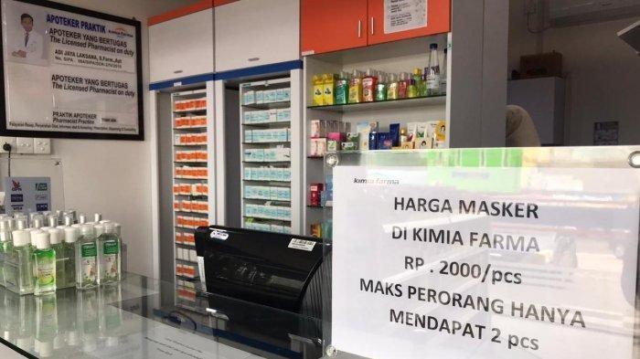 Apotek Kimia Farma Jual Masker Rp 2.000, Stoknya 7,2 Juta Lembar, Ini Kata Menteri Erick Thohir