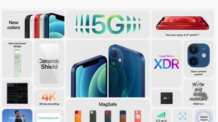 Apple Iphone 12 dan Mini diluncurkan pada Rabu (14/10/2020) dini hari