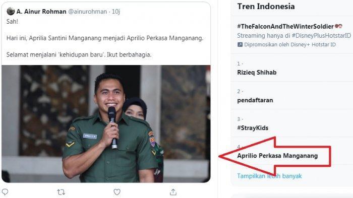 Aprilio Perkasa Manganang trending twitter setelah jenis kelaminnya resmi berubah dari wanita ke pria. Banyak yang memuji kegantengannya