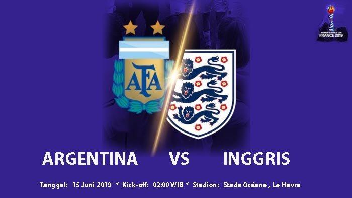 Dini Hari Ini, Timnas Inggris Versus Timnas Argentina