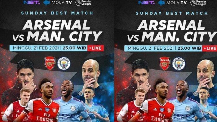 Jadwal Lengkap dan Live Streaming Pekan ke 25 Liga Inggris, Arsenal vs Manchester City Live Net TV