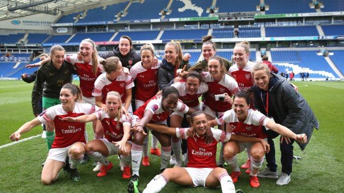 Tim Wanita Arsenal Juara Liga Musim 2018-2019