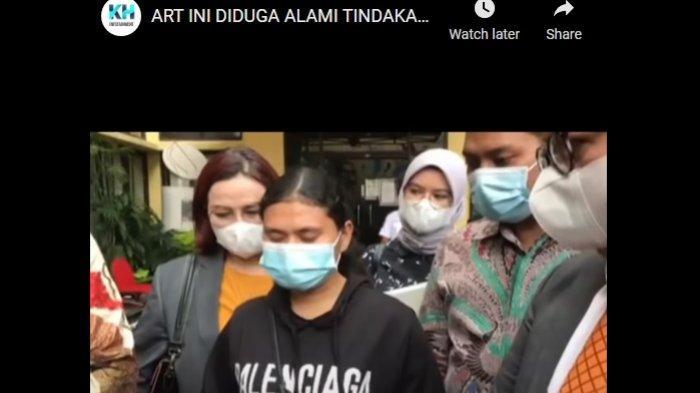 ART bernama Irni usai mengadukan penganiayaan dan penyekapan oleh Desiree Tarigan dan Bams eks Samsons (KH Entertainment)