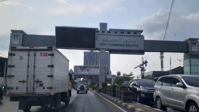 VIDEO TRAFFIC UPDATE: Lalu Lintas Perbatasan Kota Tangerang dan Tangerang Selatan Ramai Lancar